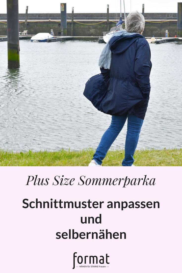 Plus Size Sommerparka - Größe selber anpassen und nähen