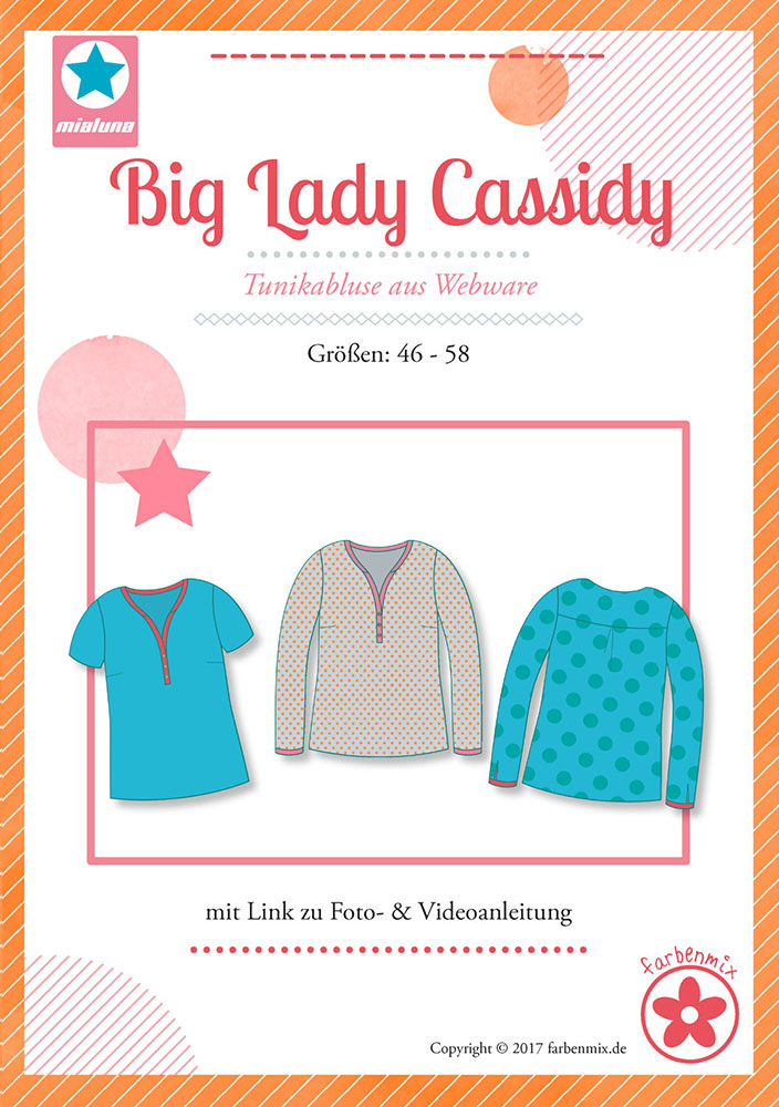 Plus Size Schnittmuster - Big Lady Cassidy Bluse