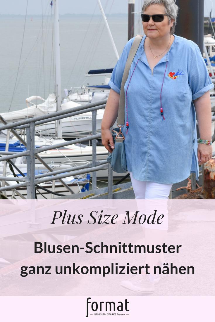 Blusen Schnittmuster unkompliziert abwandeln Big Lady Cassidy - ein Blusenschnittmuster mit vielen Möglichkeiten
