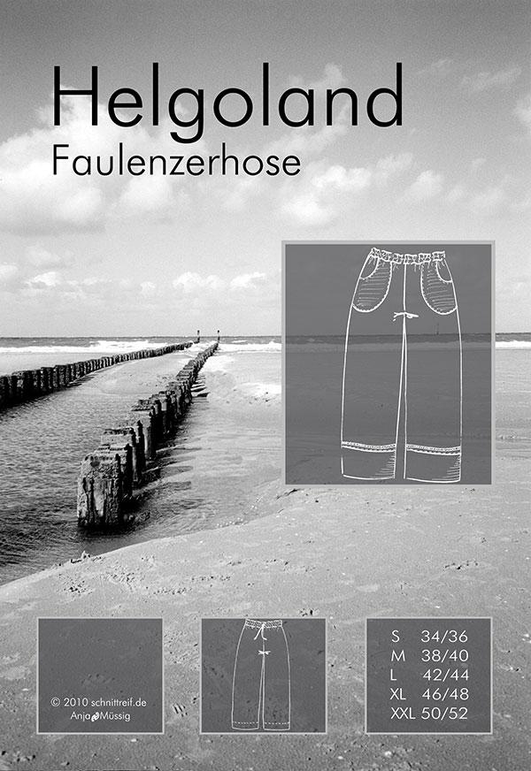 Schnittmuster Faulenzer-/Wellnesshose Helgoland