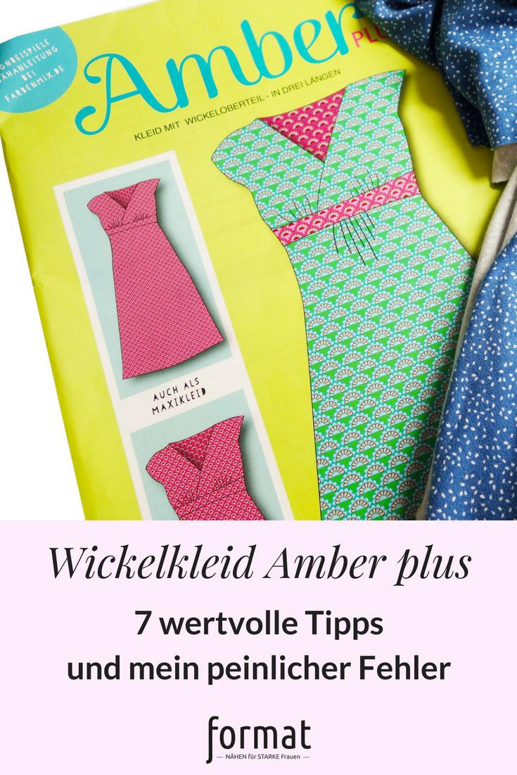 Kleid Amber plus size mit Wickeloberteil nähen.