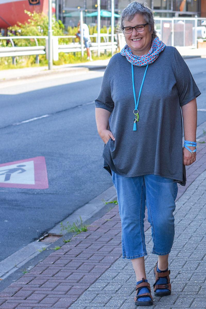 Zipfel-Tunika-Shirt für große Größen: Big Lady Indira