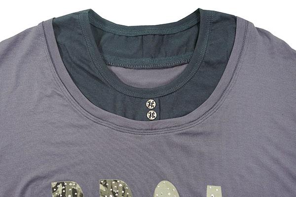 Shirt mit neuem Halseinsatz.