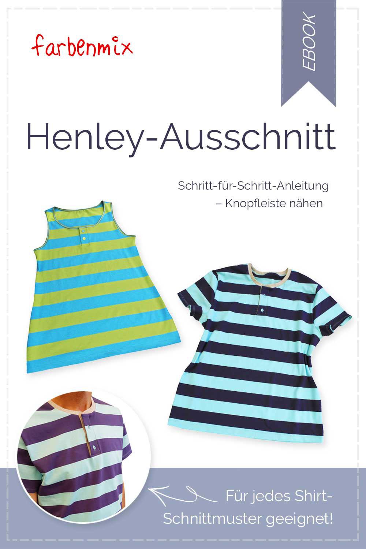 Gratis Freebook Anleitung Henley-Ausschnitt