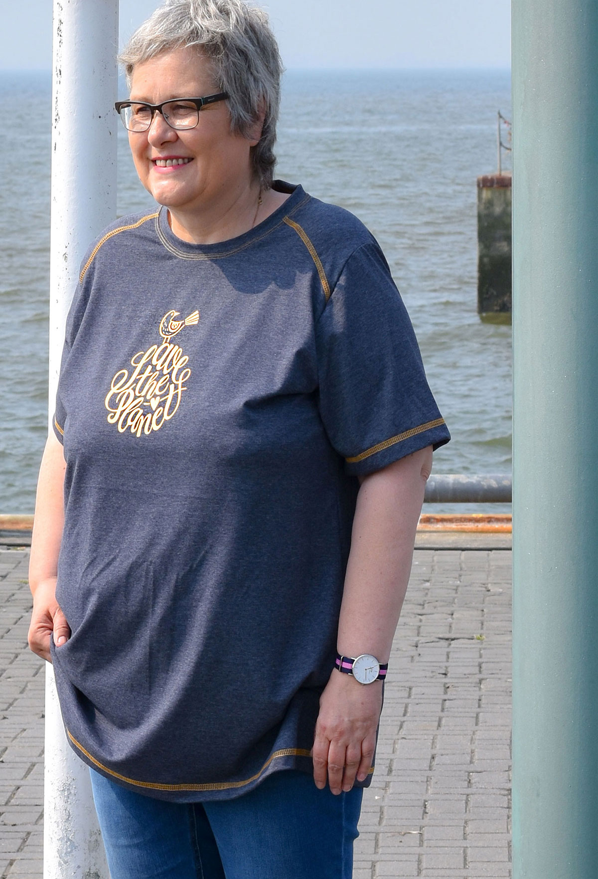 Big Lady-Pepe mit goldenem Plottmotiv