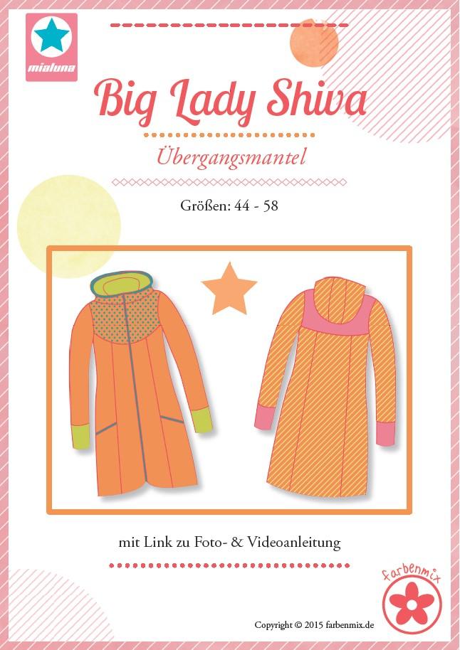 Schnittmuster Jacke für große Größen Big Lady Shiva