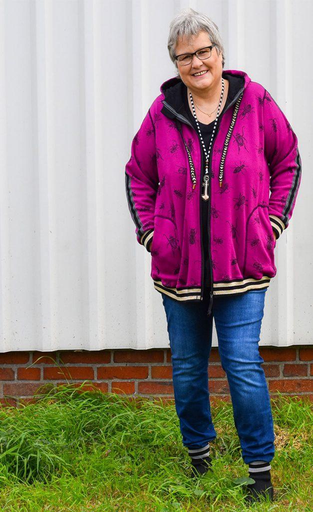 Jacke aus Alpenfleece selber nähen, Schnittmuster Big Lady Bella