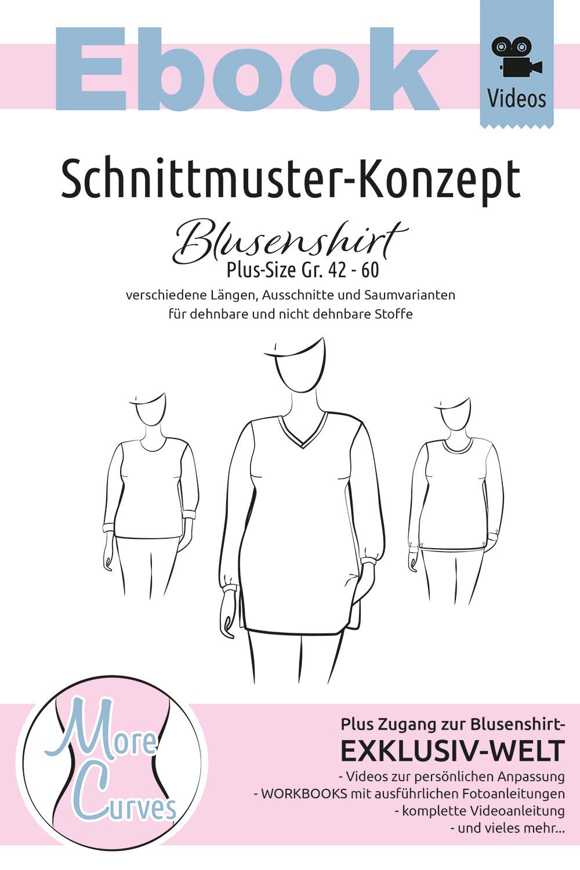 Plussize Schnittmuster Blusenshirt als Ebook