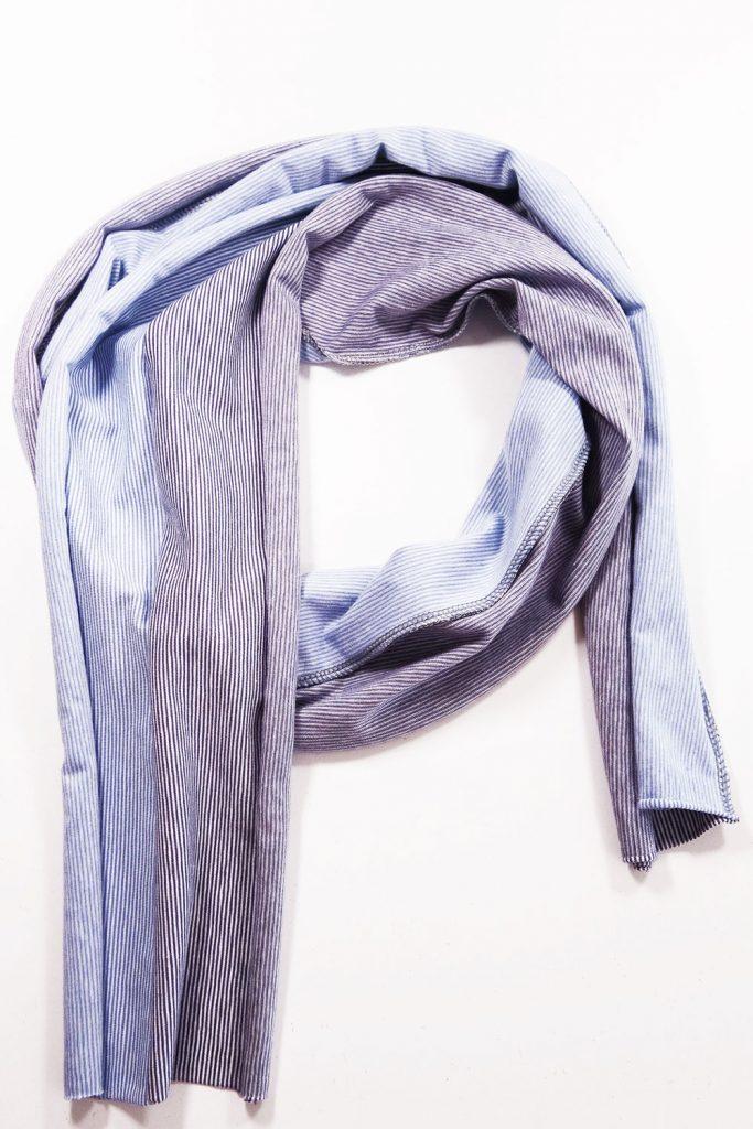 Schal aus Jerseyresten nähen
