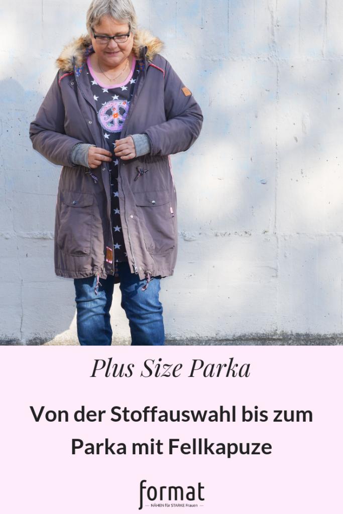 Schnittmuster Plus Size Parka mit Fellkragen nähen
