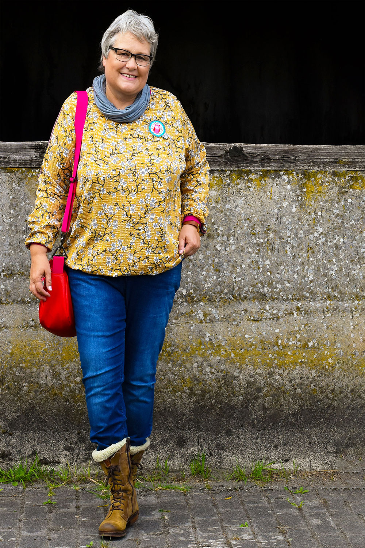 Blusenshirt aus Baumwolle-Webware nähen