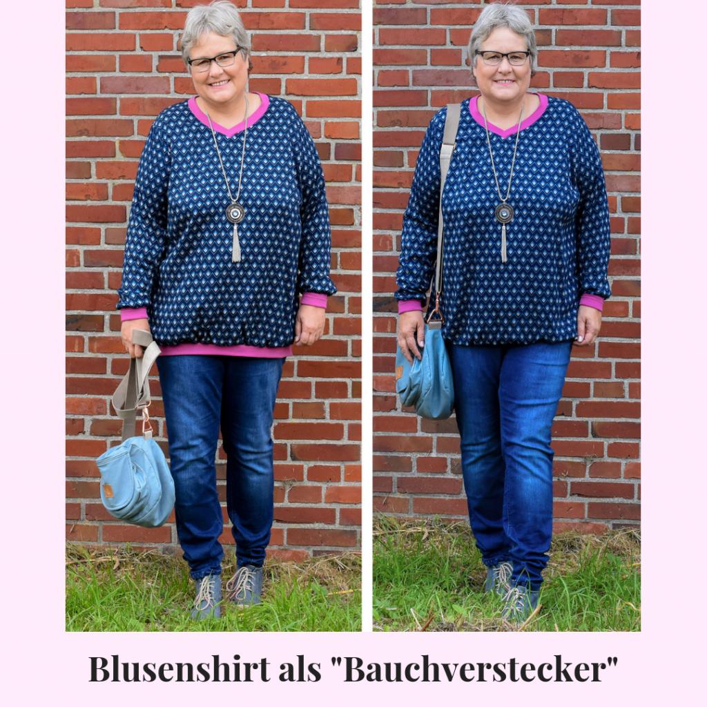 Blusenshirt als Bauchversteckter nähen