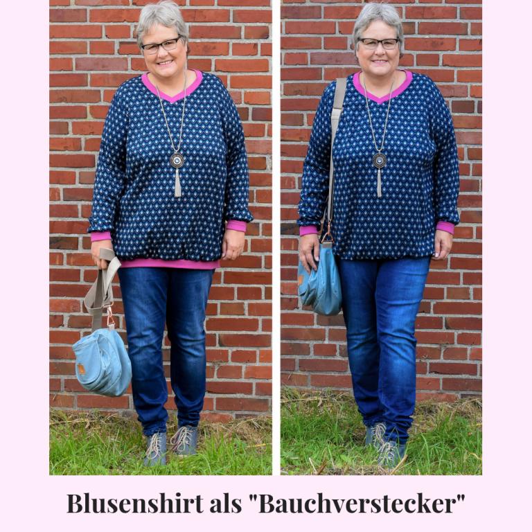 """Blusenshirt – die ideale """"Bauchverstecker""""-Variante"""