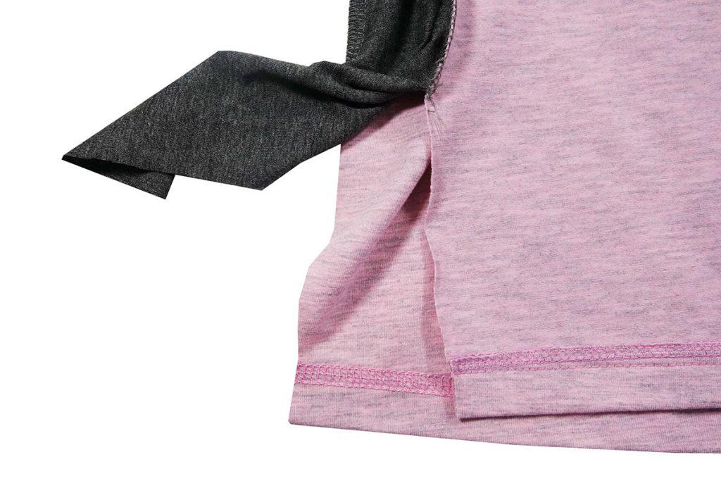 Streifen einnähen, um ein zu enges Shirt weiter zu nähen