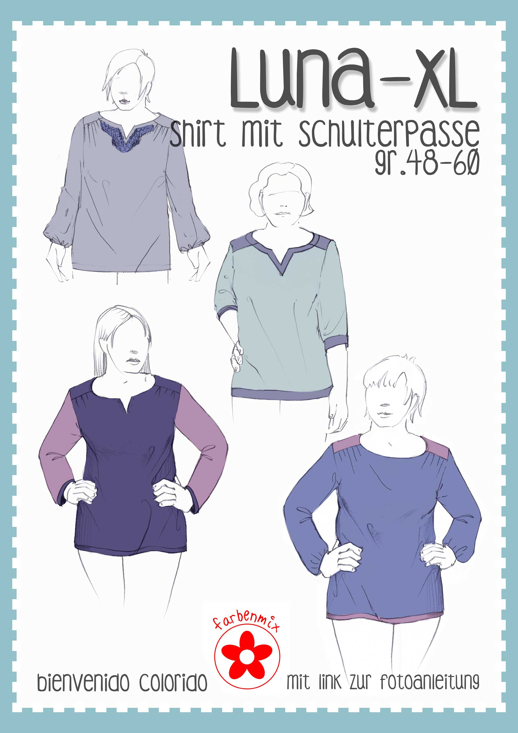 Plus size Schnittmuster Luna XL