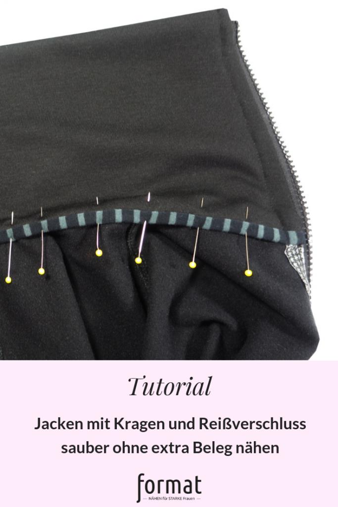 Jacken mit Kragen ohne extra Beleg nähen - Tutorial