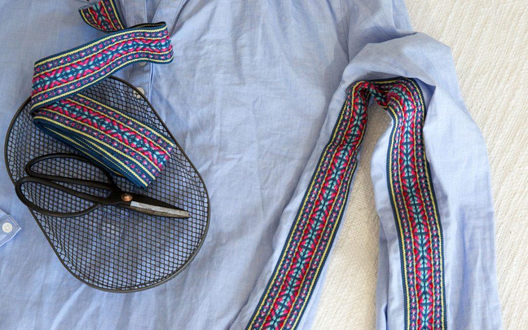 Schrankleichen: Rette die zu knappe Bluse mit einem stylischen Jacquardband