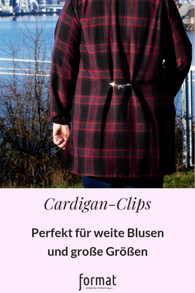 Cardigan-Clips für große Größen