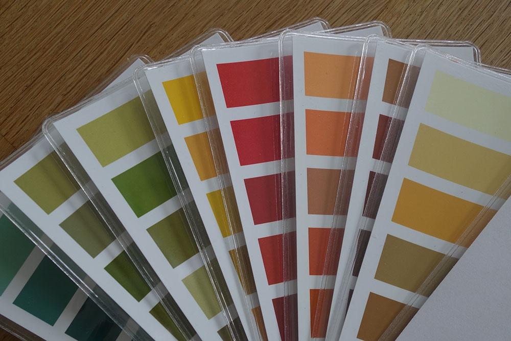 Farbkarte für den Herbsttyp - Farbberatung