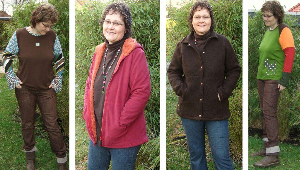 Kleidung in warmen Farbtönen - Schnittmuster von Farbenmix
