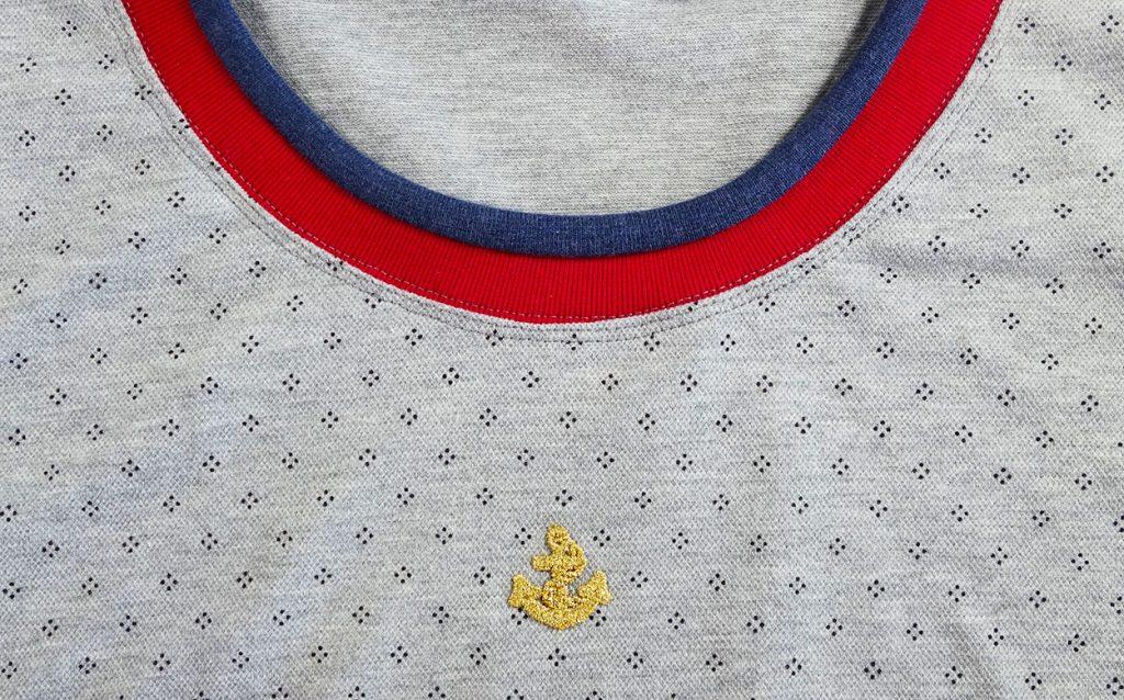 Bündchen an ein Shirt nähen
