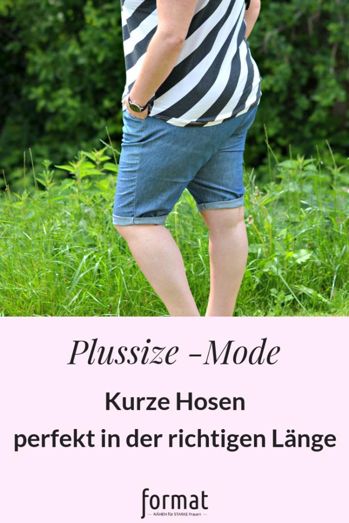 Kurze Hosen für plus-size Figur