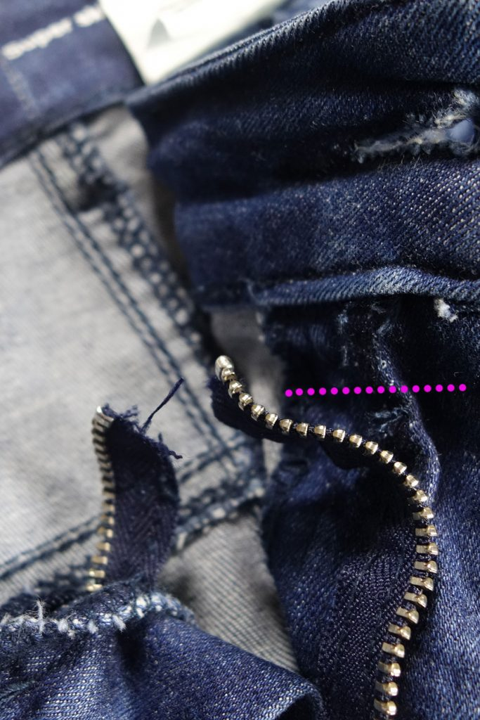 Jeansbund abtrennen
